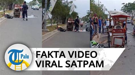 viral video satpam  bekasi tabrakkan motor  bawa kayu