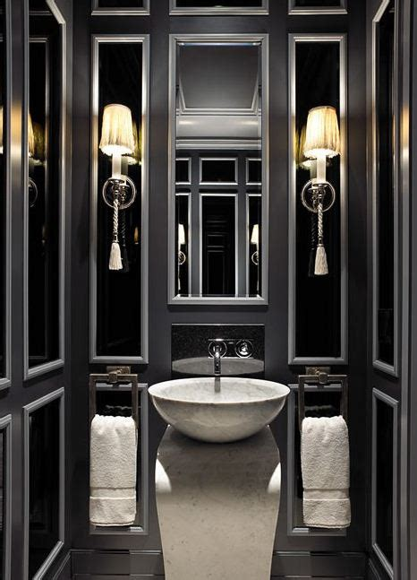 black bathroom walls black powder room contemporary bathroom
