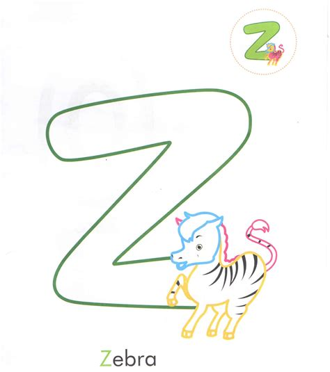 4 Letter Words Zebra alphabet letters and words coloring pages letter z zipra