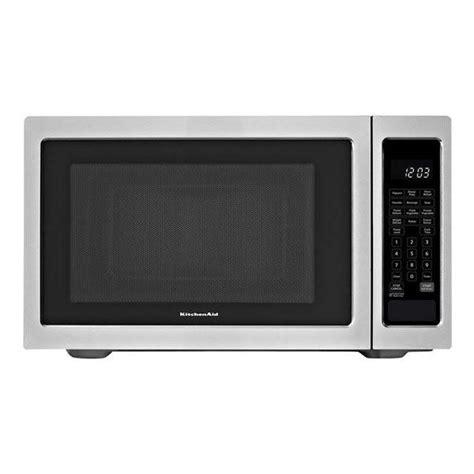 Kitchenaid Microwave Grill Kitchenaid Kcms1655bss 1200w Built In Microwave 1 6 Cu
