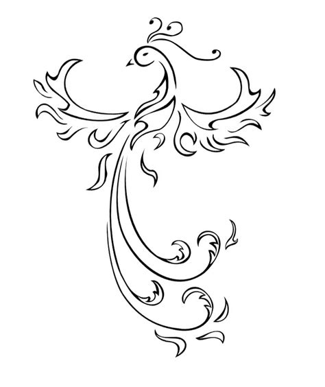 phoenix tattoo design simple pheonix on pinterest phoenix the ashes and phoenix tattoos