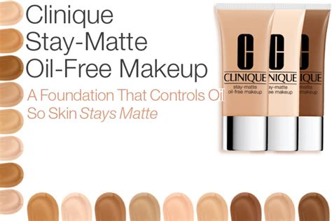 Clinique Stay Matte Foundation clinique new stay matte free makeup foundation for