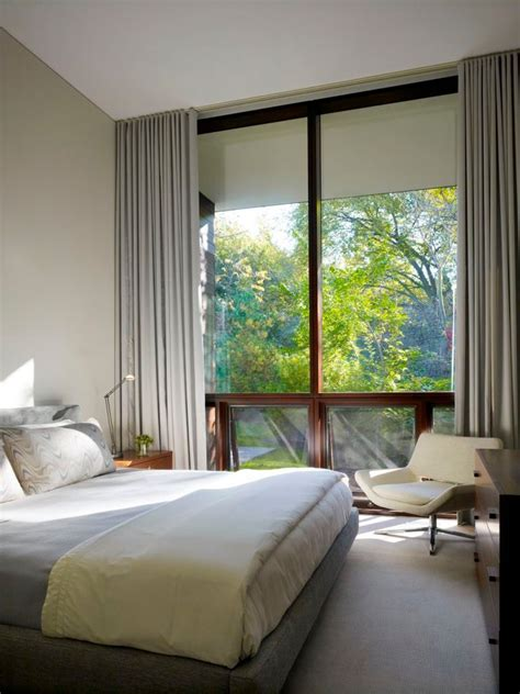bedroom window curtains as window treatment