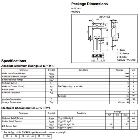 transistor a564 datasheet pdf c4460 datasheet c4460 pdf c4460 datasheet pdf sanyo gt panasonic
