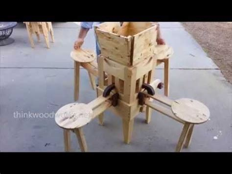 intricate table collapses   tiny cube diy