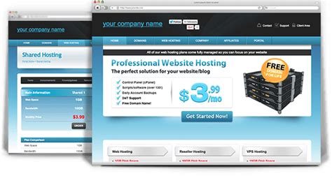 whmcs template ice host a sky blue web hosting