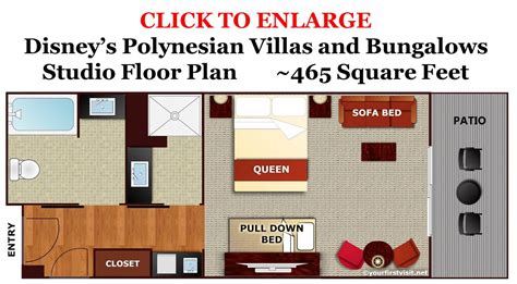 Kidani Village 2 Bedroom Villa Floor Plan Photo Tour Of A Studio At Disney S Polynesian Villas And