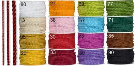kordel für vorhang farbige kordeln f 195 188 r tisch dekorationen