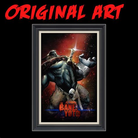 hottest comic book artists buy the bane of yoto original artwork