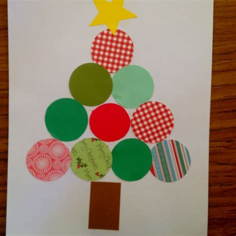 circle christmas tree teaching kindercrafts pinterest