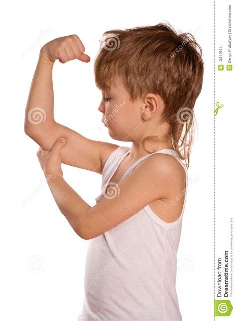 little boy flexing bicep little boy flexing biceps stock photo image of human