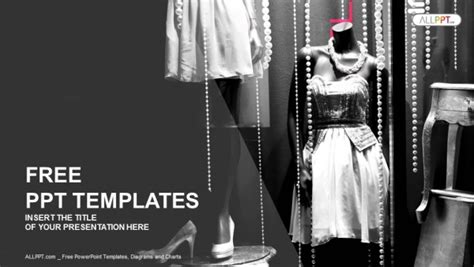 fashion powerpoint templates free boutique display window with mannequins in fashionable