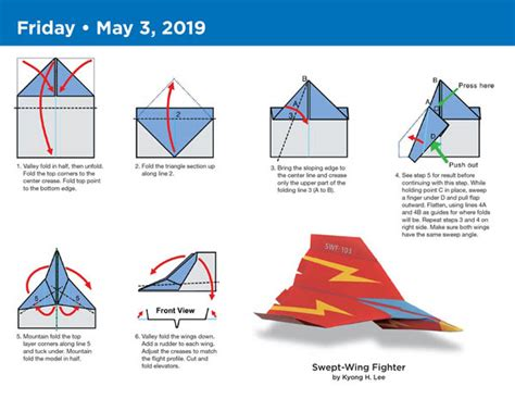 origami page a day calendar 2018 0761193928 paper airplane fold a day 2018 calendar 031857 images rainbow resource center inc