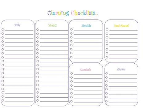 daycare cleaning checklist templates my krazy family binder