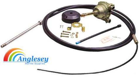 narrow boat hydraulic steering boat steering helm kit wheel parts cable hydraulic