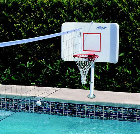 pool shot spike  splash combination basketball volleyball