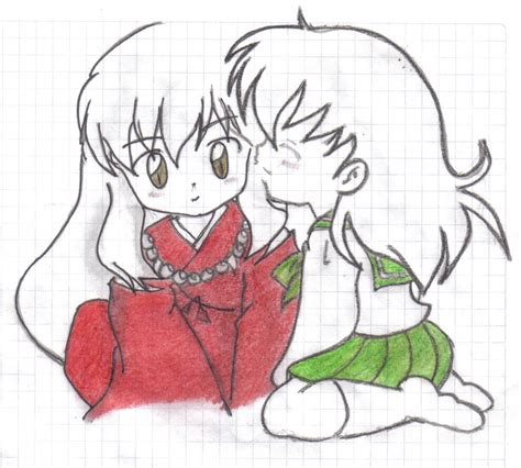 imagenes de inuyasha para dibujar a lapiz inuyasha y kagome by neckarc on deviantart