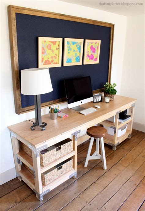 Diy Office Desk Plans White Diy Desk Workbench Diy Projects