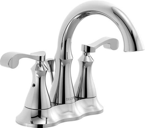 delta 174 arabella 4 in 2 handle high arc bathroom faucet