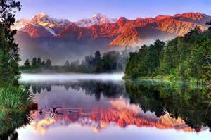 Landscape Photography New Zealand South Island South Island New Zealand Landscape Reflection River Forest