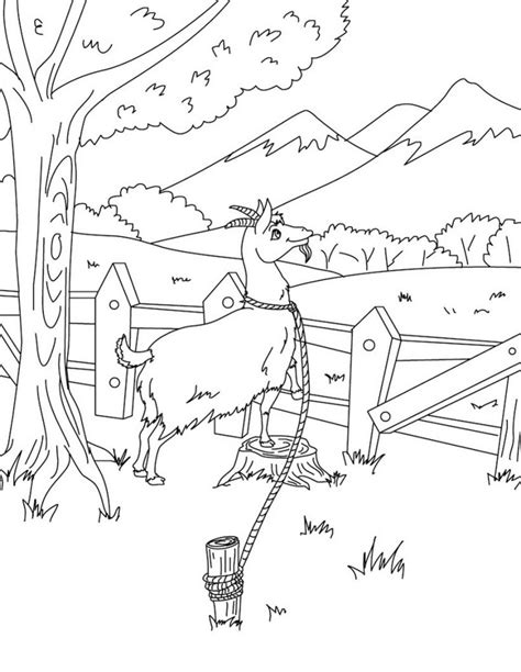 printable coloring in pages free printable goat coloring pages for kids