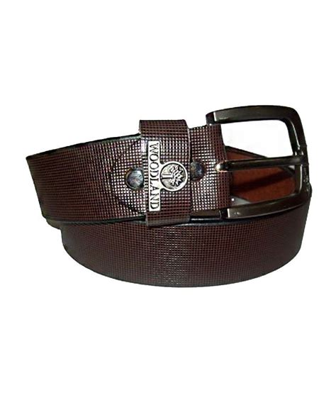 woodland brown leather belt for buy at low