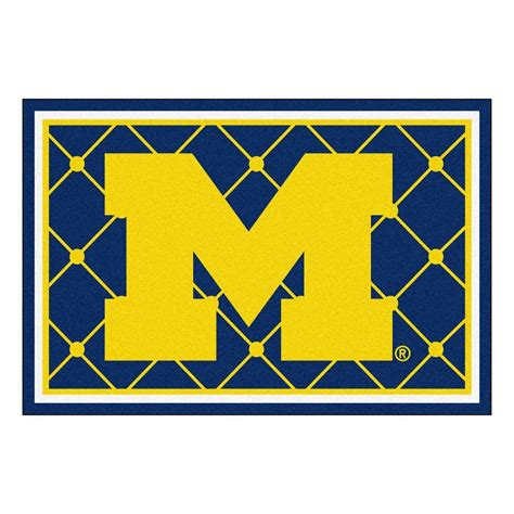 of michigan rug fanmats of michigan 5 ft x 8 ft area rug 6264 the home depot