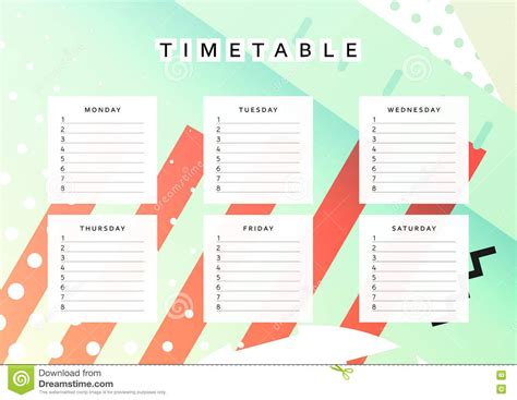 time design planner planner calendar schedule the week abstract design