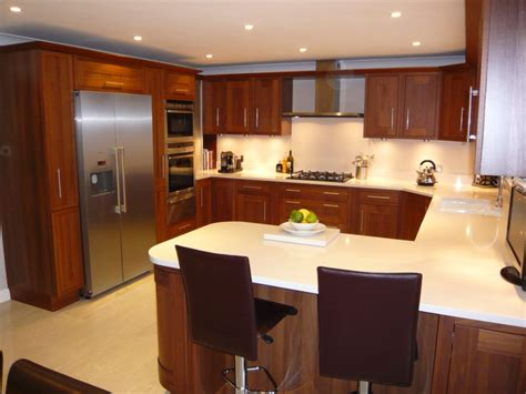 U Shaped Kitchen Design With Island by Modular Kitchen Designs