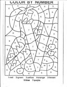 coloring pages color by number kindergarten new