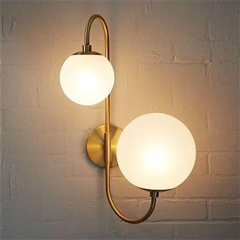 Bathroom Light Fixtures West Elm Geo Glass Sconce Single Polished Nickel Smoke Luster