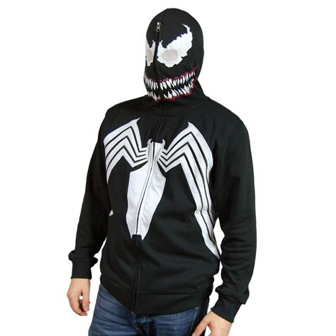 Jaket Hoody Marvel mens marvel venom costume hoodie black