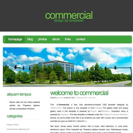 free business html templates commercial free website templates in css html js format