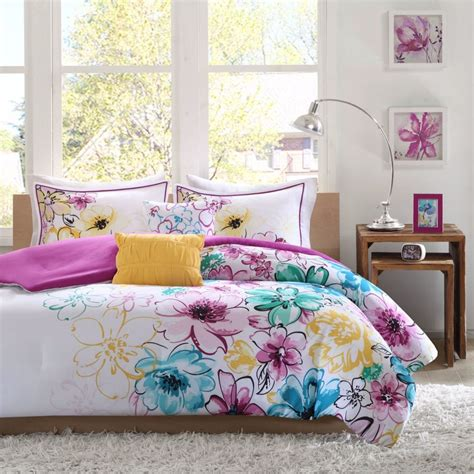 girls full bed girls full comforter set or teen queen bedding reversible