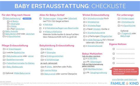 checkliste baby kinderzimmer baby erstausstattung checkliste 187 familie und