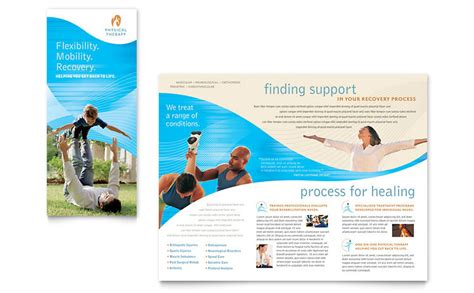 free therapy brochure templates physical therapist brochure template word publisher