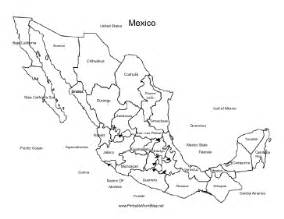 printable map of us and mexico mexico map