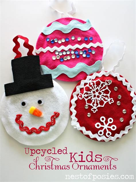 crafting with kids make upcycled christmas ornaments
