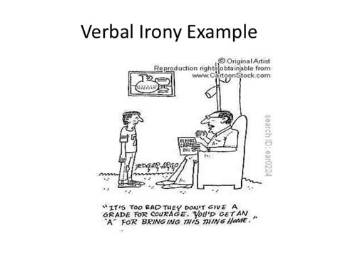 exle of verbal irony story literary terms power point