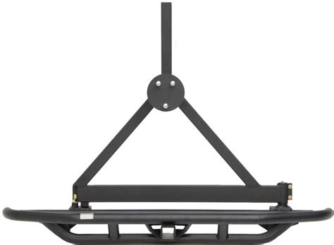 universal swing out tire carrier smittybilt rear src bumper with 2 quot receiver swing away