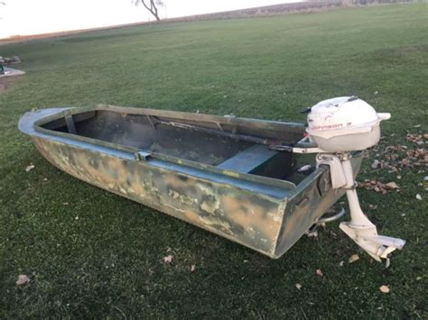 lund hunting boats for sale original lund ducker duck boat with johnson 3hp motor 2