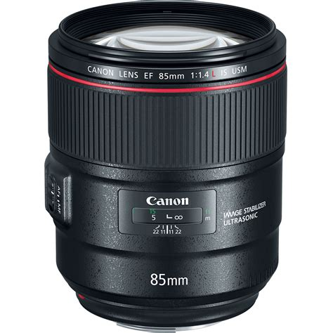 canon lens canon ef 85mm f 1 4l is usm lens 2271c002 b h photo