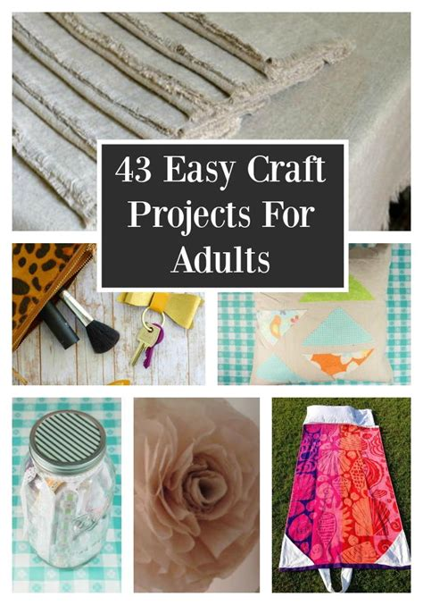 simple craft projects for adults 43 easy craft projects for adults favecrafts