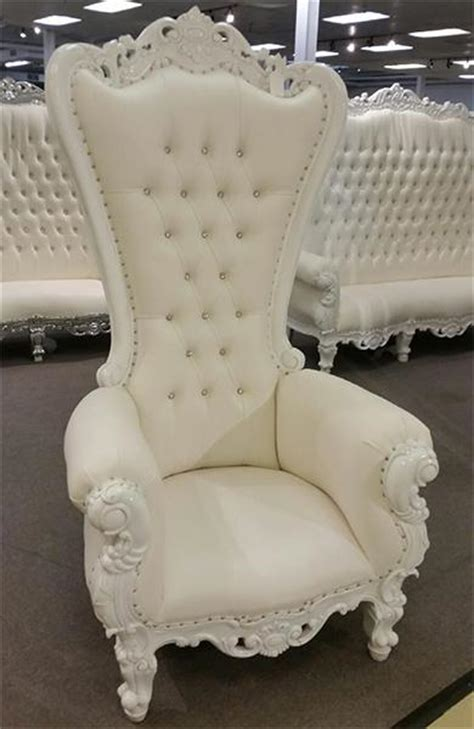 white throne chair wedding event chairs crystal floral
