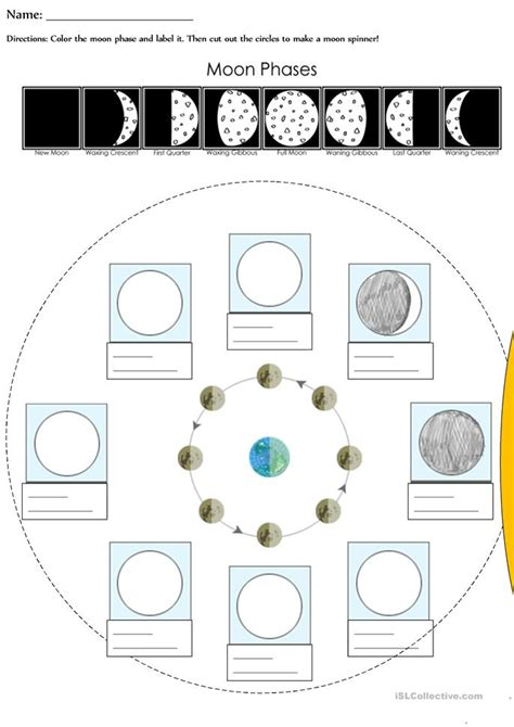 Moon Worksheets by Moon Phases Worksheet Free Esl Printable Worksheets Made