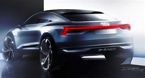 Audi Sportback E Tron by Audi Sportback E Tron Concept Teased Ahead Of Shanghai