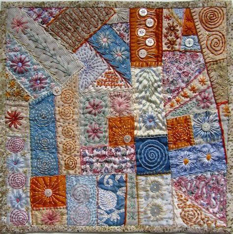 Patchwork Embroidery Stitches - summertime quilts quilting gallery