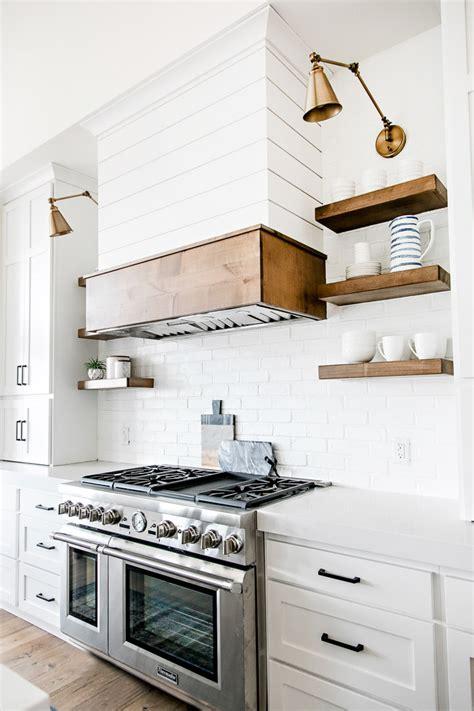 shiplap kitchen hood an amazing modern farmhouse a simple summer centerpiece