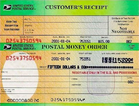 money order template bliss acres farm payment information