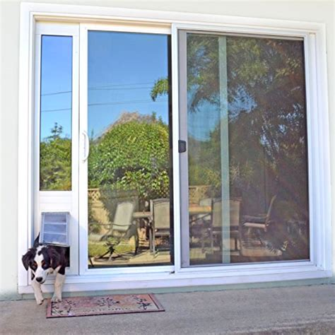 patio pacific door patio pacific thermo panel iiie small flap 77 25 80 25 bronze frame hardware building materials